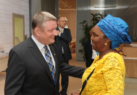 Photo: Federal Minister Hermann Gröhe with his Liberian counterpart Bernice T. Dahn