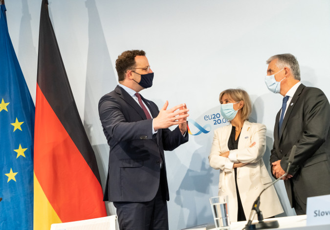 Impressions of the Informal Meeting of EU Health Ministers as part of the German EU Council Presidency on 16 July 2020.