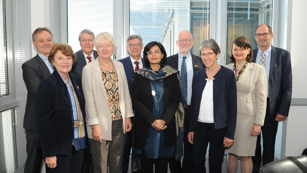 Picture of the last meeting in July with some members of the IAB and two Secretary of States