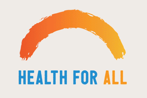 "WHO Logo mit ""Health for all"""